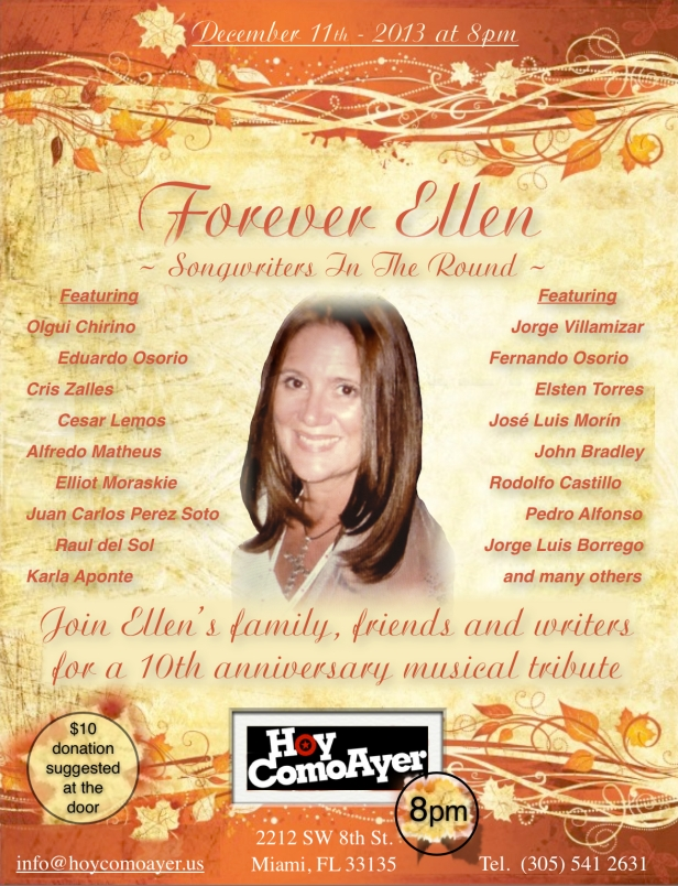Ellen's 10 year Tribute Flyer